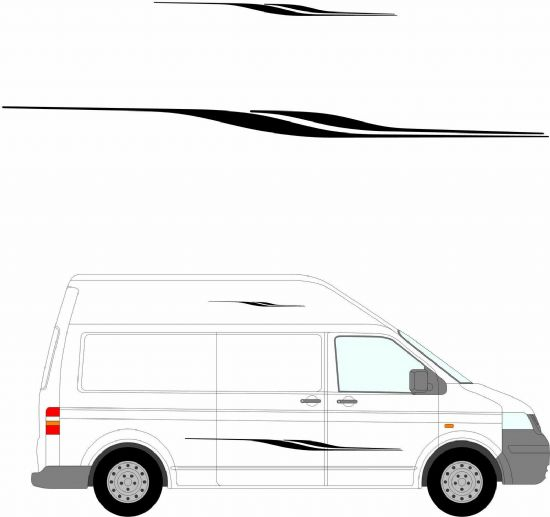 (No.202) MOTORHOME GRAPHICS STICKERS DECALS CAMPER VAN CARAVAN UNIVERSAL FITTING